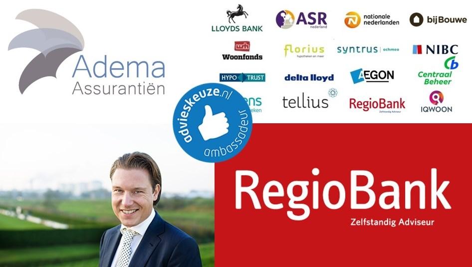 Logo van Adema Assurantiën en Regiobank Groningen Hoogkerk