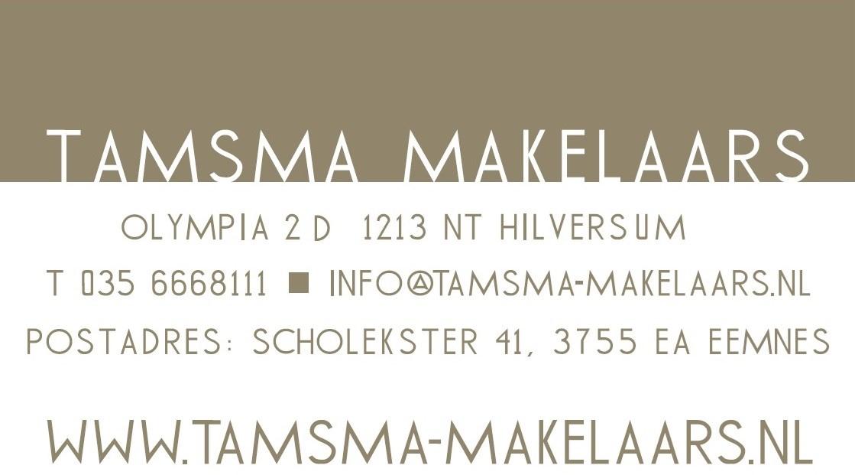 Logo van TAMSMA MAKELAARS o.g.